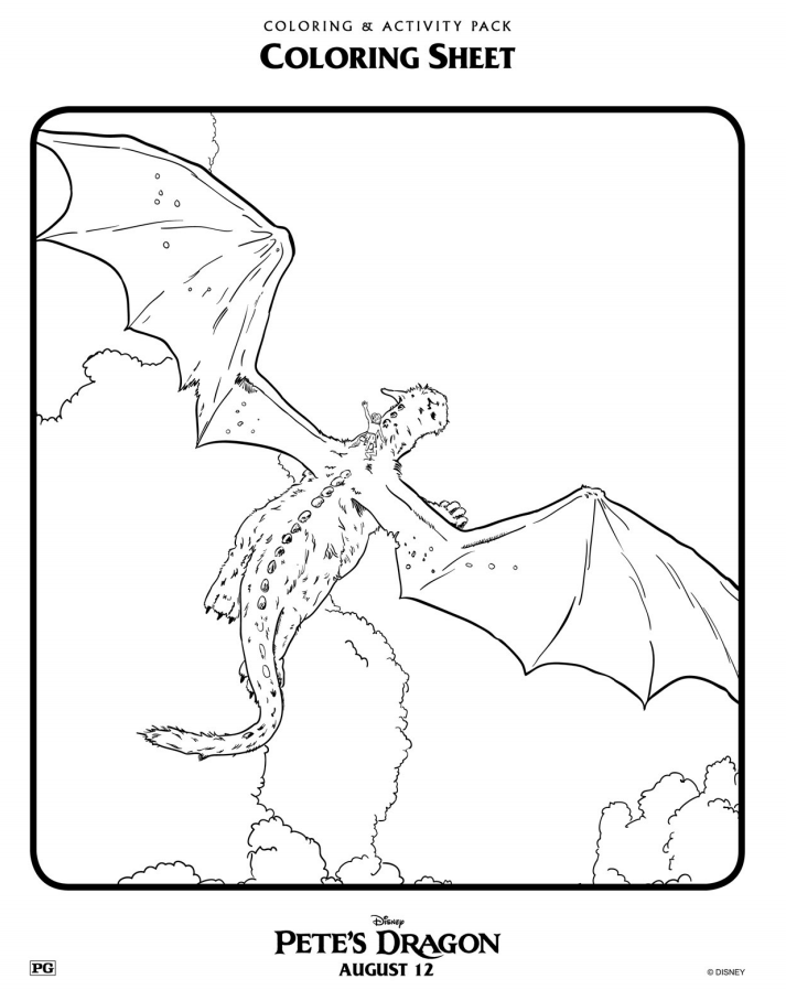 disney u0026 39 s pete u0026 39 s dragon coloring pages  petesdragon