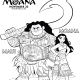 MAUI and MOANA Coloring Page - Disney's Moana