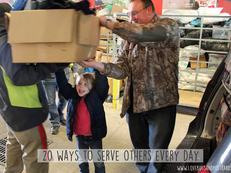 20 ways to serve others every day