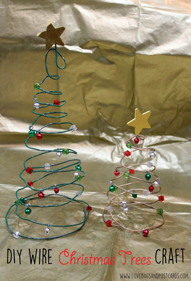 DIY Wire Tree Christmas Craft