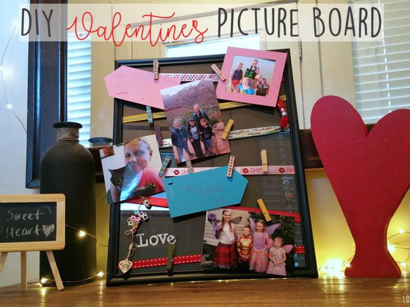 DIY Valentine's Day Picture Board