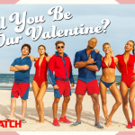 Happy Valentine's Day from your favorite lifeguards on the beach!  #BeBaywatch