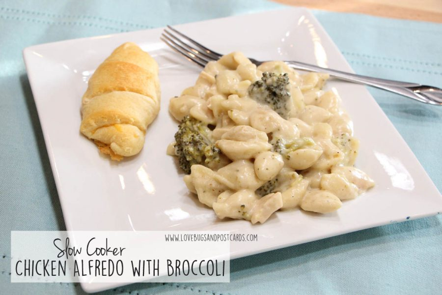 Easy Family Meal Ideas - Slow Cooker Chicken Alfredo with Broccoli