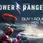 Buy one get two free tickets to Power Rangers with this special promo code through Atom Tickets