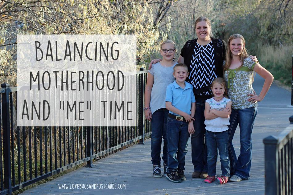 """Balancing motherhood and """"me"""" time"""