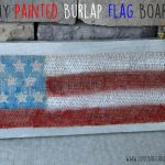DIY Painted Burlap USA Flag Board