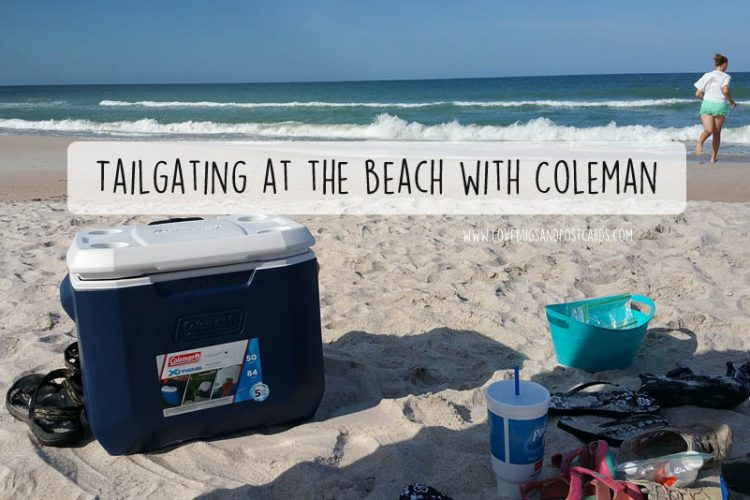 Tailgating at the beach with Coleman