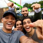 Check out this Selfie of #Aladdin Cast Members: Will Smith, Mena Massoud, Naomi Scott and Marwan Kenzari