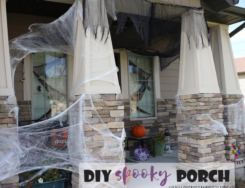 Diy Spooky Front Porch Halloween Decorations Lovebugs And Postcards