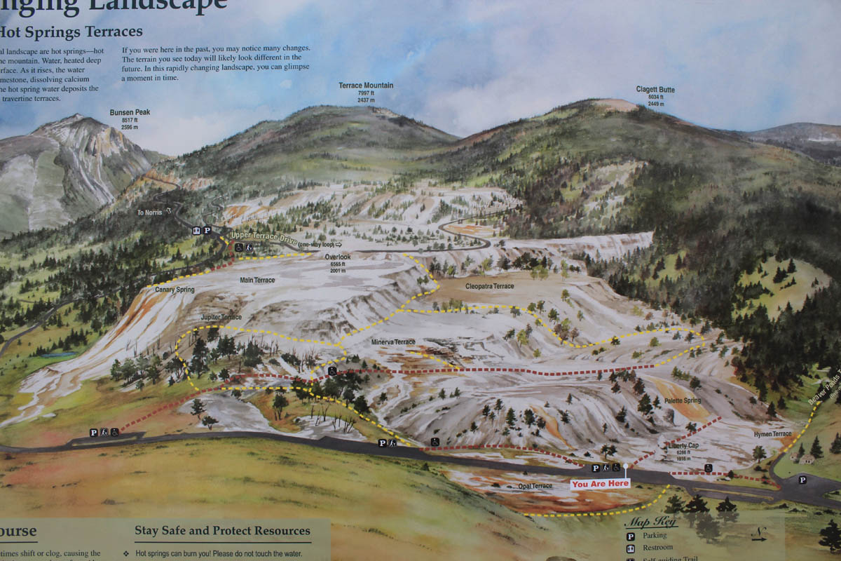 Map of Mammoth Hot Springs