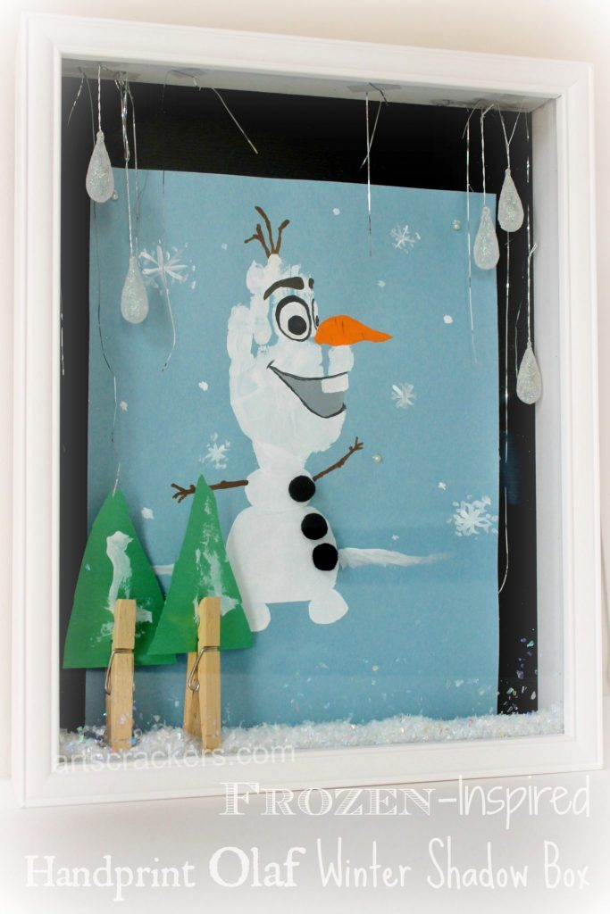 Olaf painting - 25+ Winter Crafts for kids