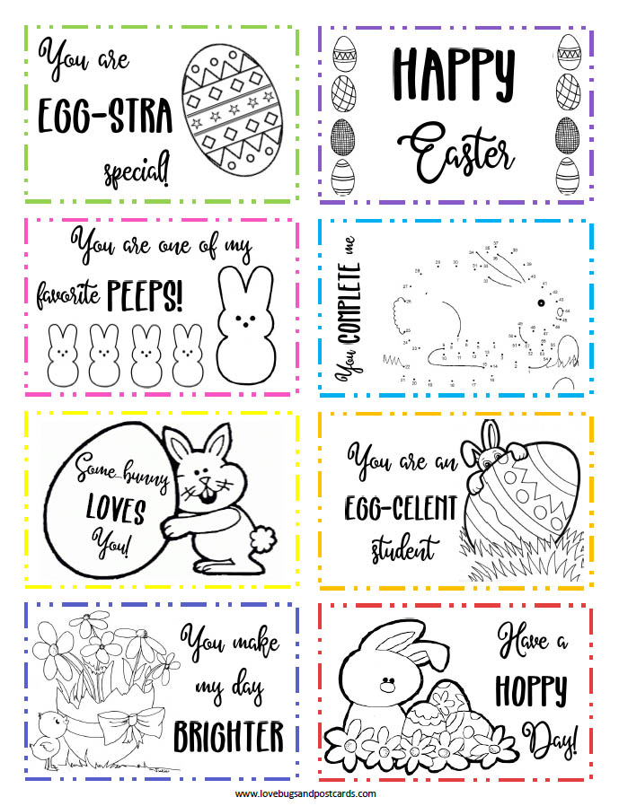 Free Printable Easter Lunchbox Notes