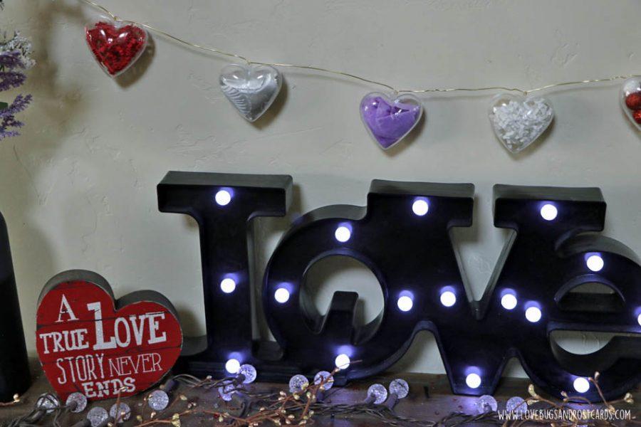 DIY Valentine's Heart Ornament Garland - Valentine's Crafts for Kids