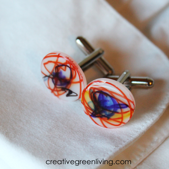 DIY Cuff Links Father's Day Gift