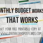 A monthly budget worksheet that works (+ printable monthly budget)