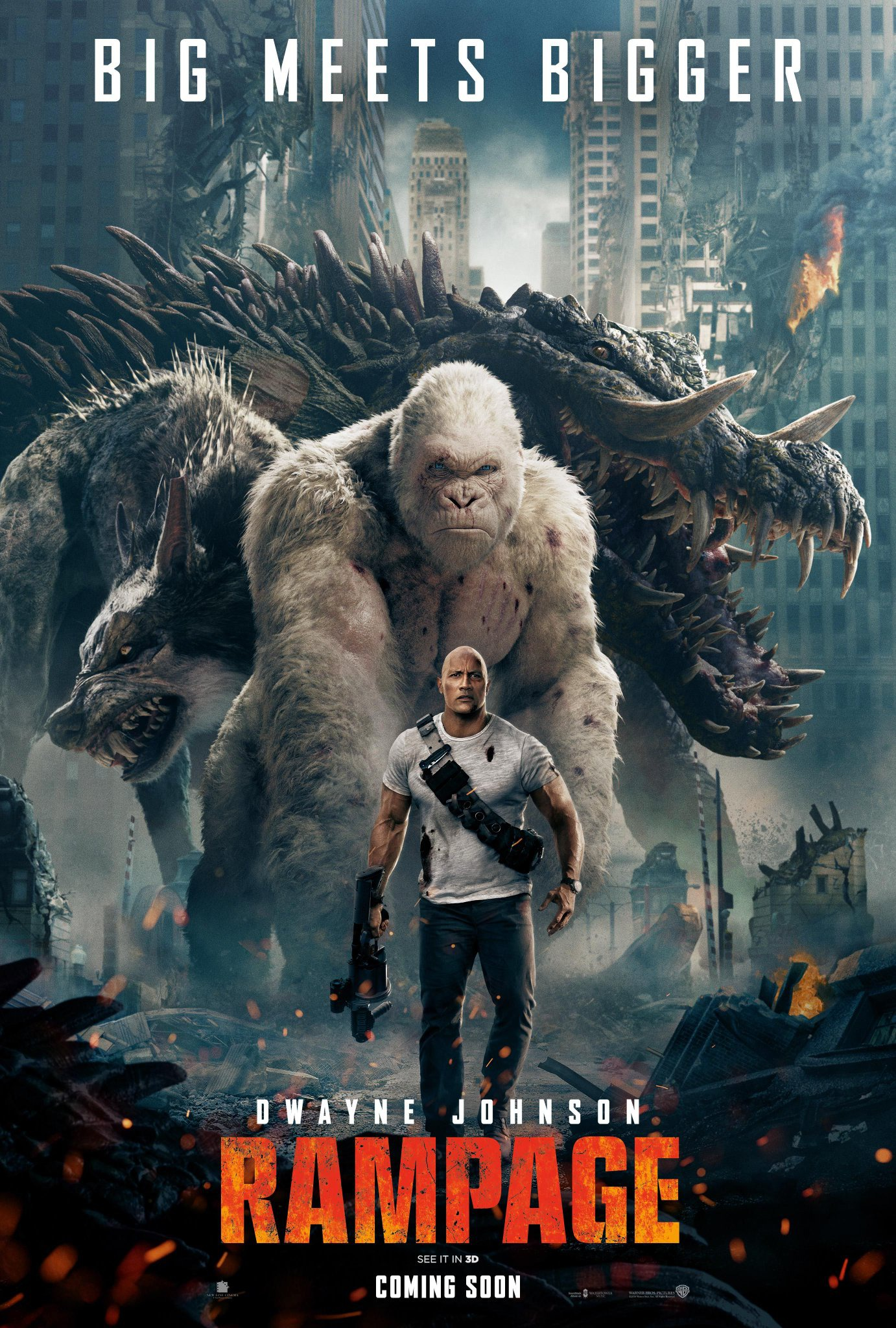 Own Rampage (starring Dwayne Johnson) now