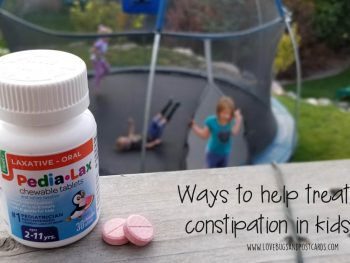 Ways to help treat constipation in kids