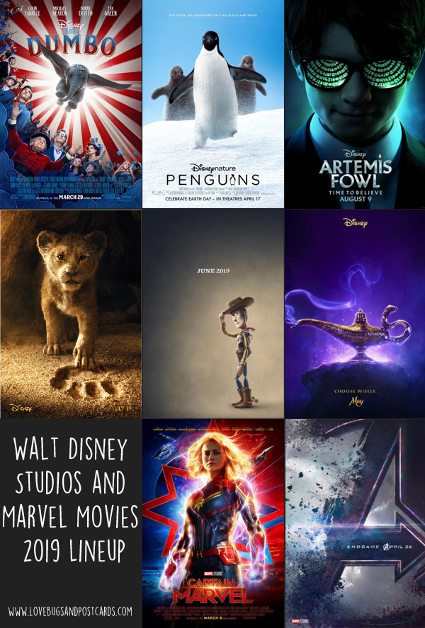 2019 Walt Disney Studios and Marvel Movies Lineup