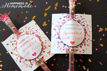 FREE Valentine's Printables - Sprinkled with Love Confetti Valentine