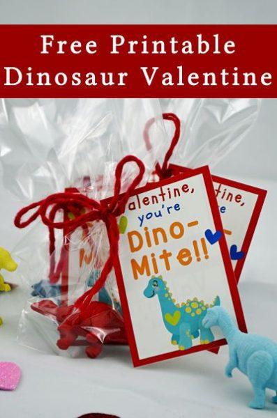 FREE Valentine's Printables - Printable Dinosaur Valentine