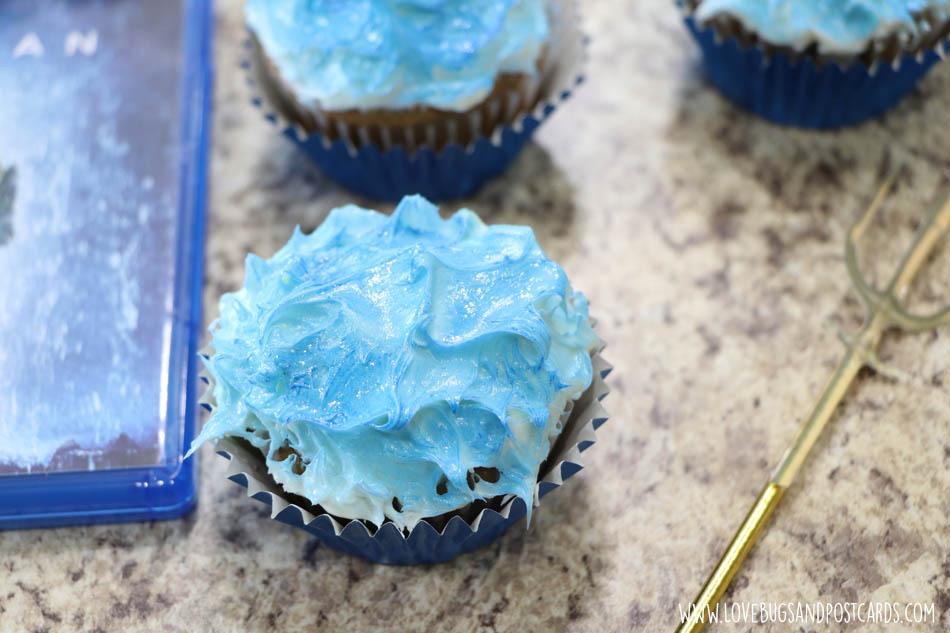Trident Aquaman Cupcakes