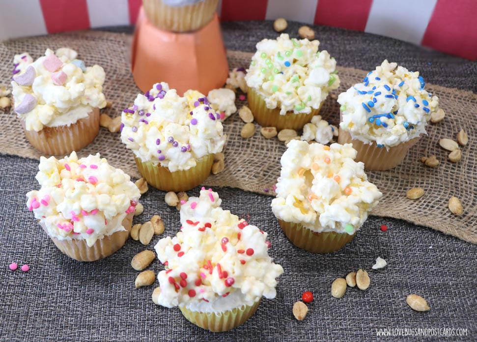 Circus Popcorn Cupcakes