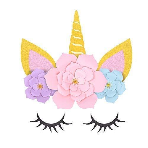 Unicorn Birthday Party Ideas - Unicorn Flower Backdrop