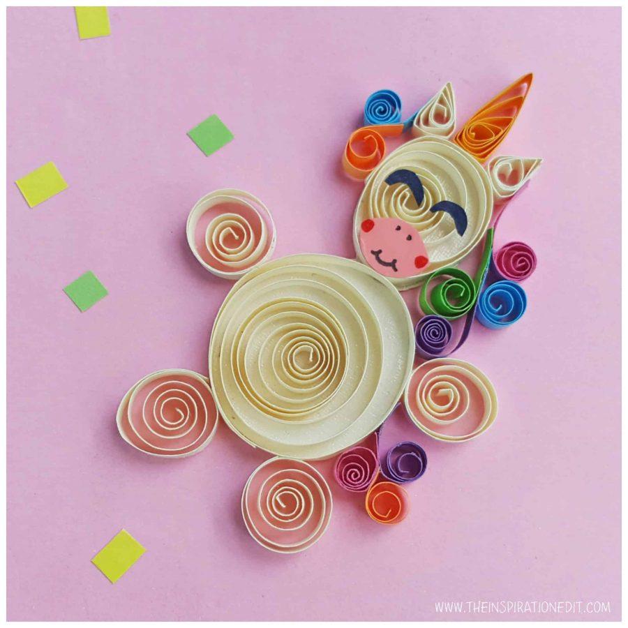 Unicorn Birthday Party Ideas - Unicorn Quilling Craft