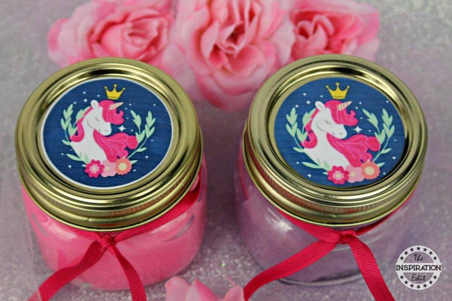 Unicorn Birthday Party Ideas - Unicorn Slime Jars