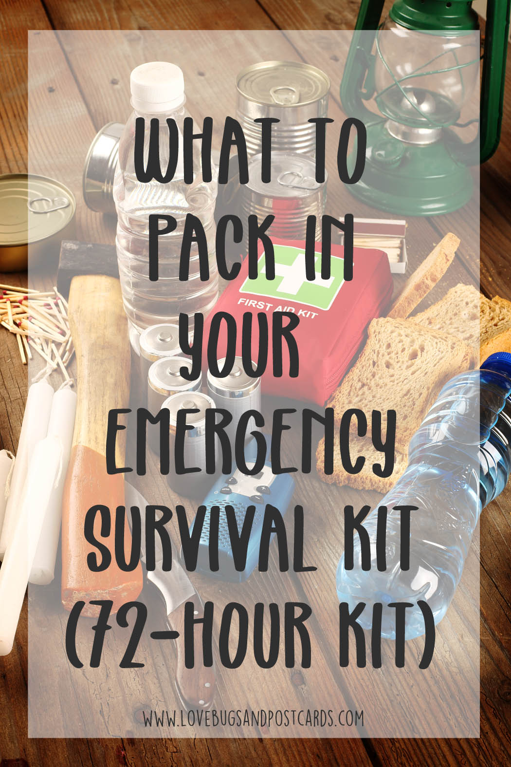 Emergency kit checklist printable (72-hour kit)