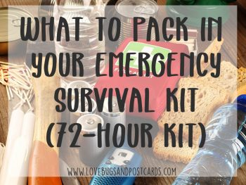 Emergency kit checklist printable (72-hour kit)