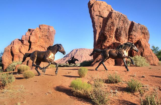 Traffic Circle Mustangs