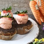 Chocolate covered strawberries carrot Easter cupcakes