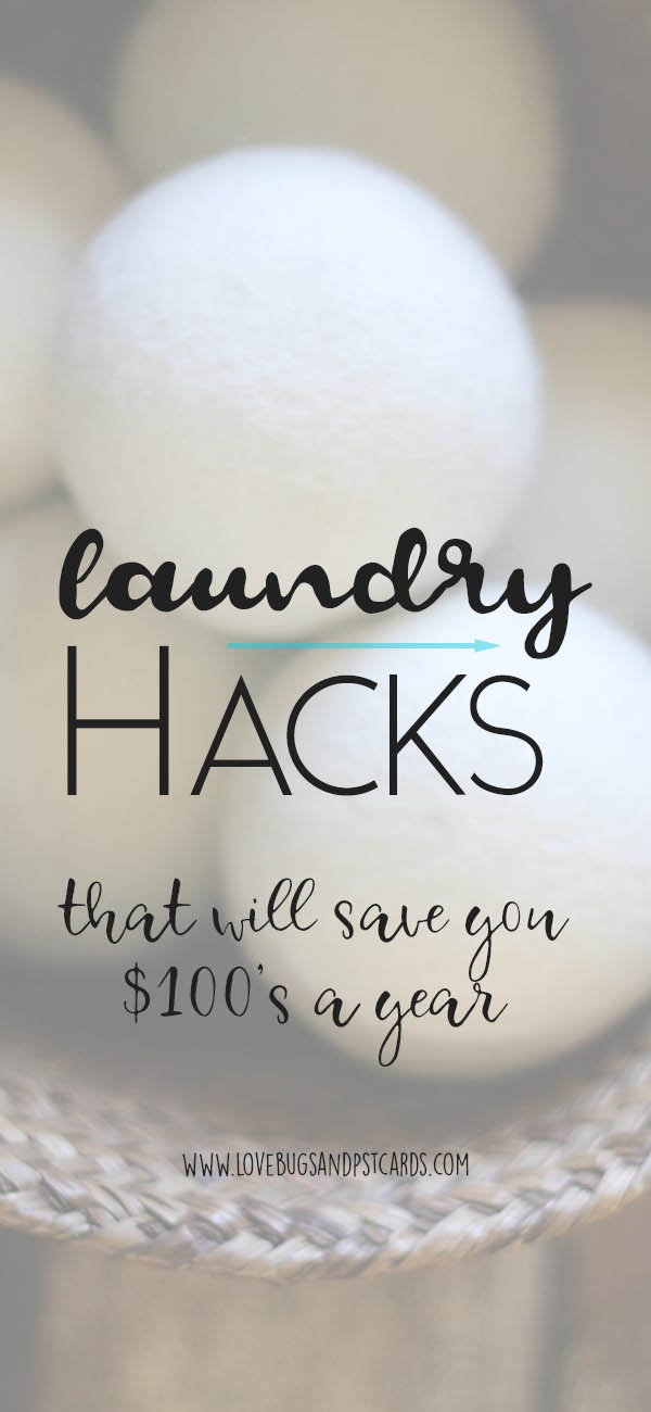 Laundry Hacks that will save you $100's a year