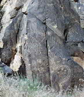 Petroglyphs in the Parowan Gap