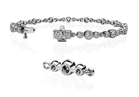 The clasp on the Anjolee vintage bracelet is strong and secure