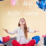 30 bags in 30 days declutter challenge plus free printable declutter chart