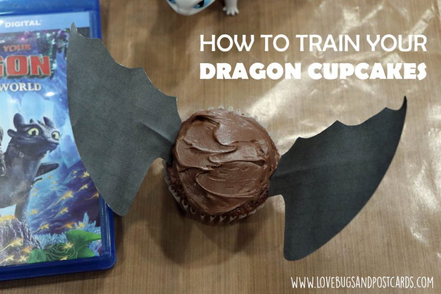 Dragon Cupcakes Wings Printable