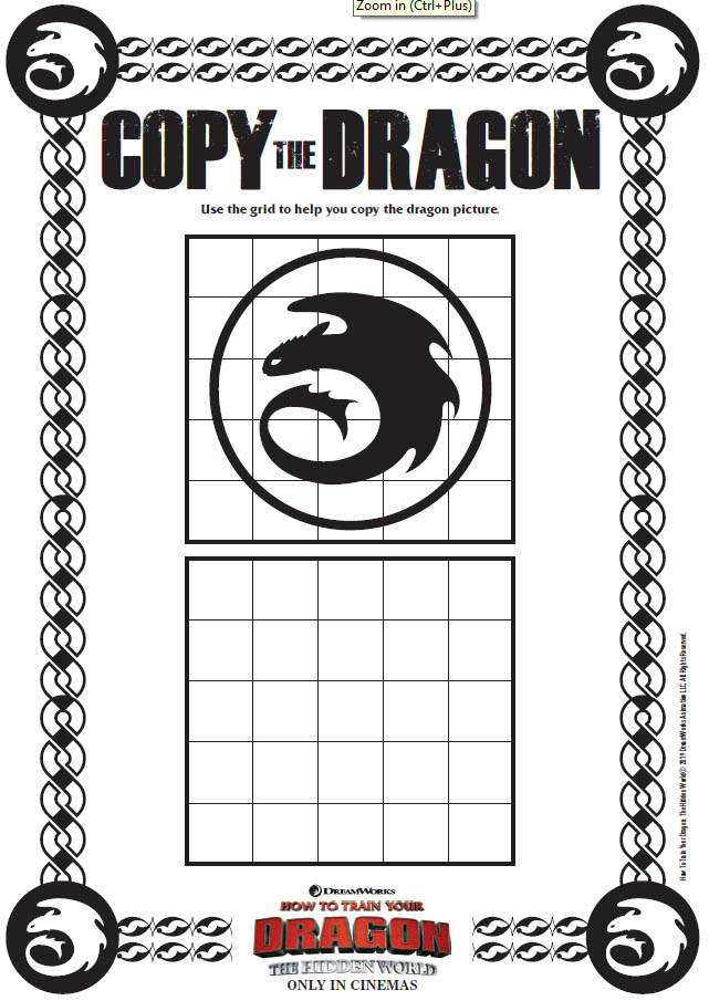 How to Train Your Dragon: The Hidden World Activity Sheets - Copy the Dragon