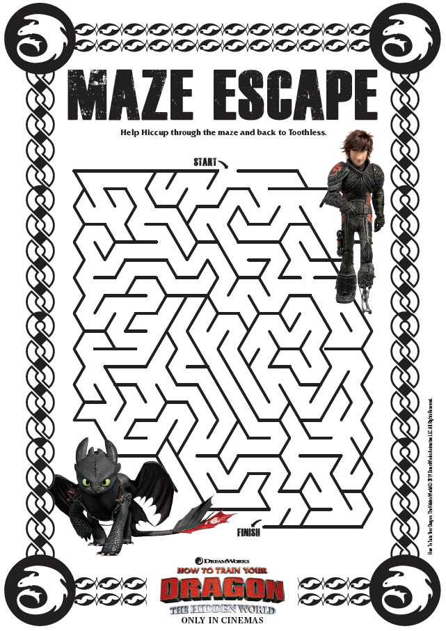 How to Train Your Dragon: The Hidden World Activity Sheets - The Maze Escape