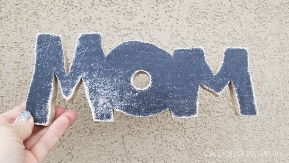 sand the letters so they are smooth