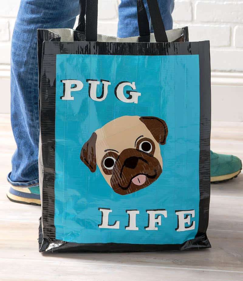 Pug life duck tape bag