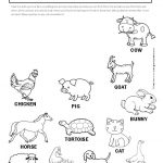 Printable farm animal scavenger hunt