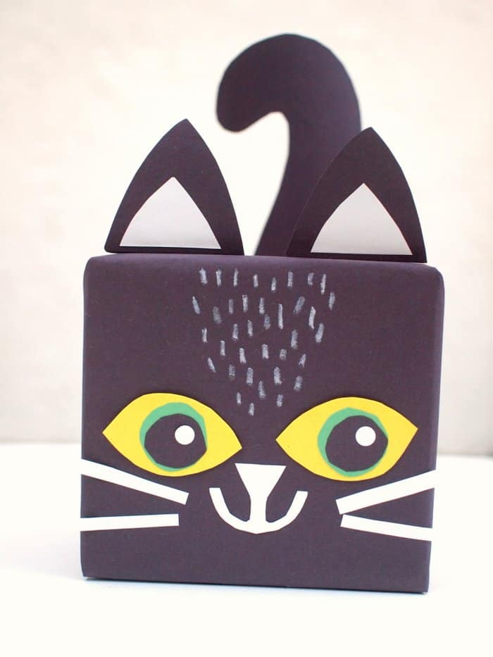 cat gift box craft