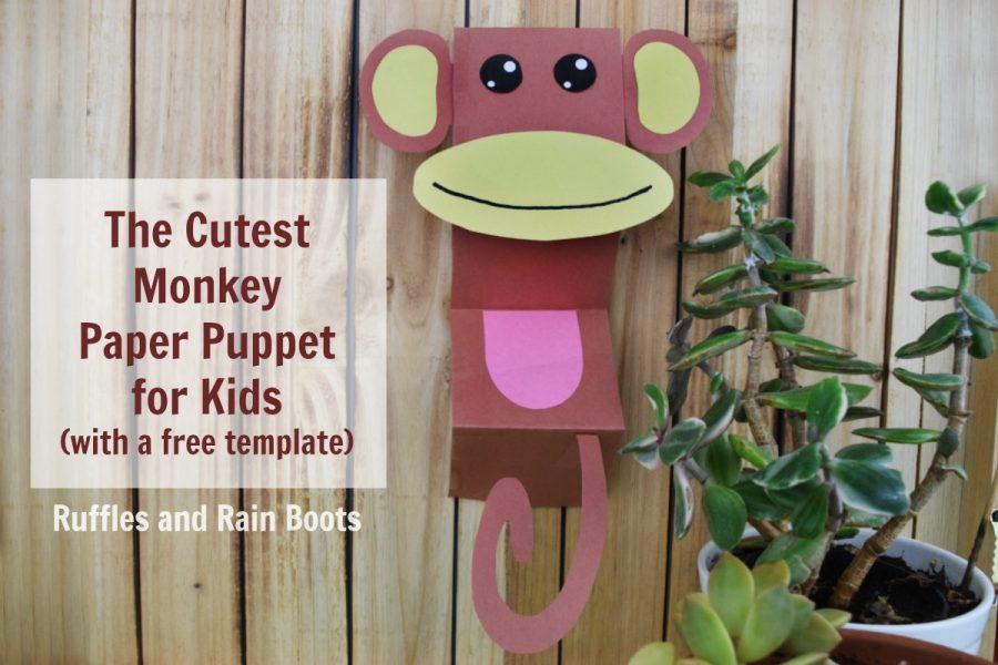 Monkey Paper Puppet