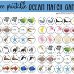 Ocean Match Game Printable + Ocean Crafts for Kids