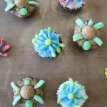 Sea Turtle Cupcakes and Octopus Cupcakes
