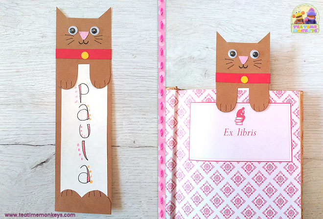 Cat Bookmark Craft
