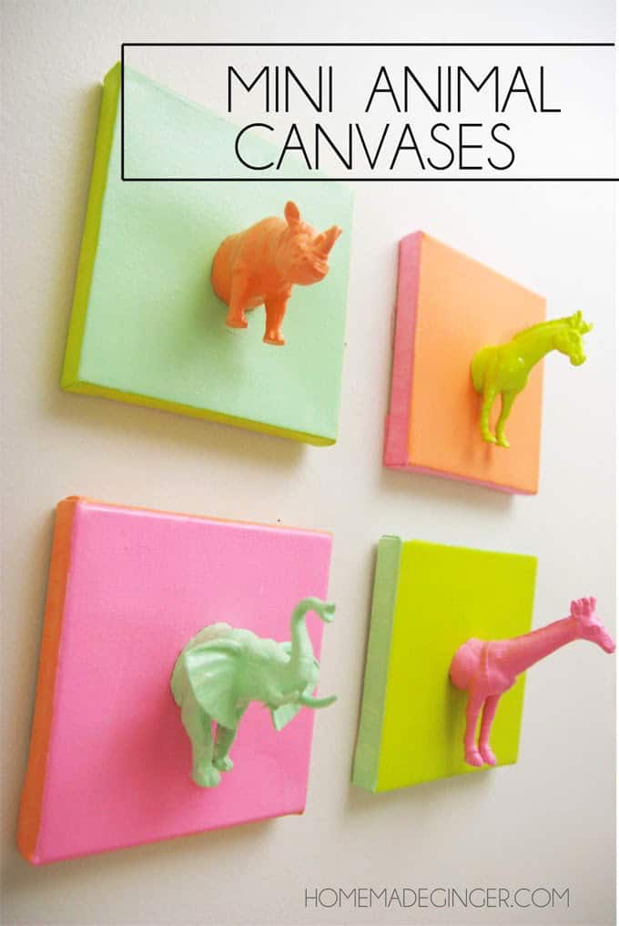 Mini animal canvases