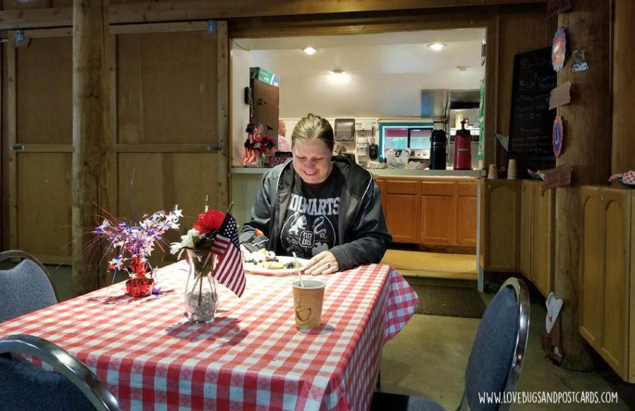 Eating at the Thunderbird RV & Camping Resort